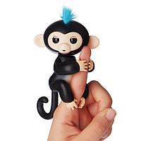 Интерактивная ручная обезьянка Wow Wee Fingerlings Черная (1235)