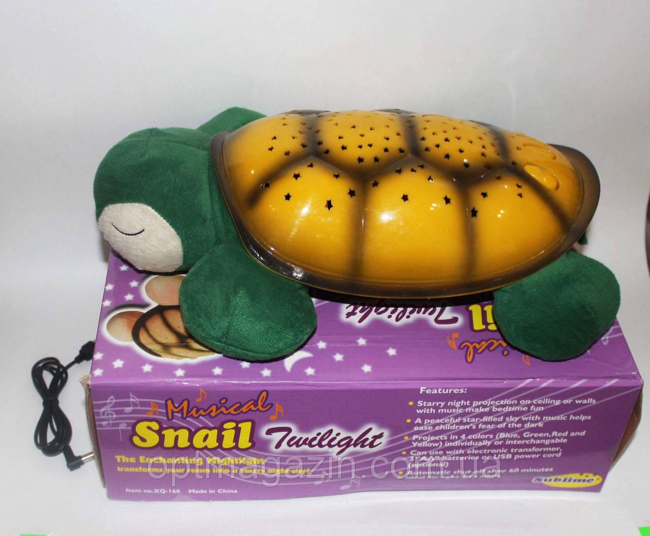 Ночник Черепаха (Звездное небо) с USB кабелем