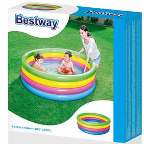 Басейн Bestway Rainbow 51117 (157х46см обсяг 522л), фото 2