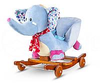 Детская плюшевая качалка-каталка Tobi Toys Слоник, фото 1