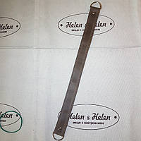 Короткий ремень на полукольцах  с фурнитурой  цвета серебро