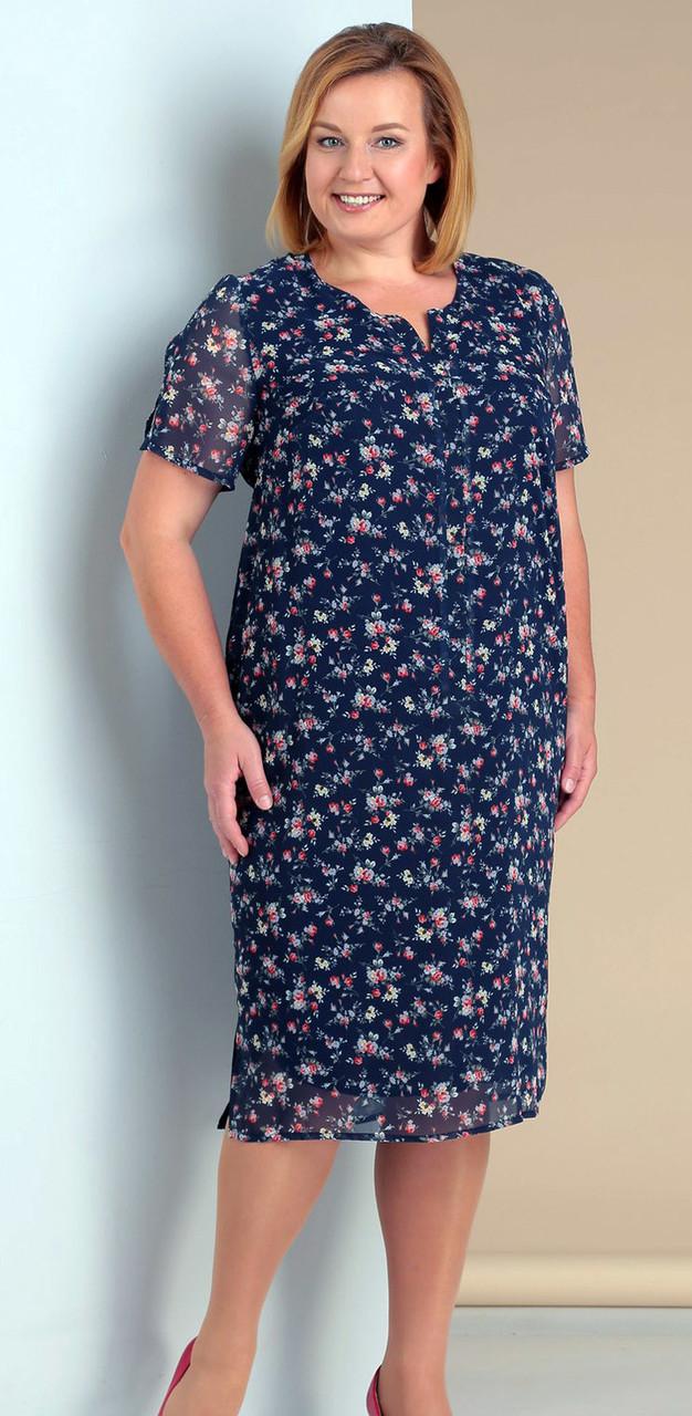Платье Novella Sharm-2965-1 белорусский трикотаж, синий, 68