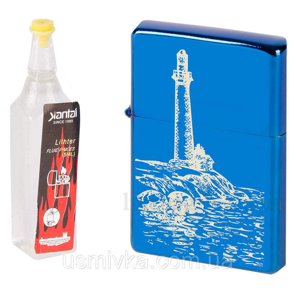 Подарочный набор: бензиновая зажигалка с лазерной гравировкой и бензин ZB10153