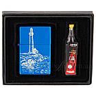 Подарочный набор: бензиновая зажигалка с лазерной гравировкой и бензин ZB10153, фото 2