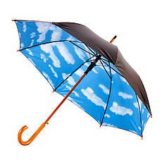Зонт-трость полуавтомат. Облака.