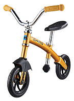 Самокат велобег каталка G-bike chopper Deluxe yellow (GB0026)