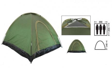 Палатка универсальная самораскладывающаяся 3-х местная SY-A-35-O (р-р 2х2х1,4м, PL, зеленый
