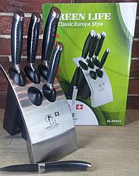 Кухонные ножи набор 6 в 1 GREEN LIFE GL-P0453