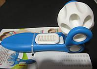 Массажер-ручной роликовый раздвижной  (пластик, l-23см)
