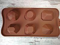 Форма силиконовая для конфет Драгоценные камни