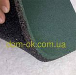 Підлогове гумове покриття для спортивних майданчиків, гумова плитка 500*500 мм, товщина 12 мм зелений, фото 3