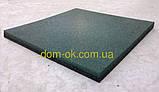 Підлогове гумове покриття для спортивних майданчиків, гумова плитка 500*500 мм, товщина 12 мм зелений, фото 6