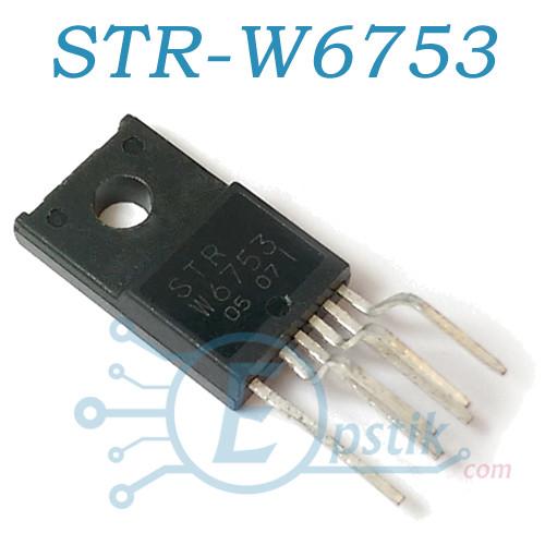 STR-W6753, Импульсный регулятор напряжения, TO220F-6