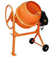 Венцовая бетономешалка оранжевая для стройки 160 литров, Бетоносмеситель принудительного действия