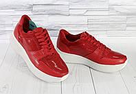 Летние красные кроссовки. Натуральная кожа 1901, фото 1