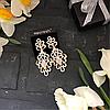 Раскошные свадебные серьги-капельки  Mecresh с кристалами