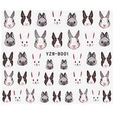 KATTi Наклейки водные YZW B 001 цветные кролики