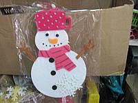 Новогодний снеговик на висюльках