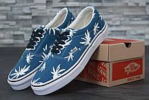 Кеды женские Vans Vault Era LX OG 'Palm Leaf' синие топ реплика, фото 2