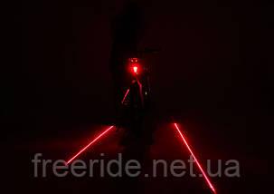Задний вело фонарь , фара с лазерной дорожкой HY-025, фото 2
