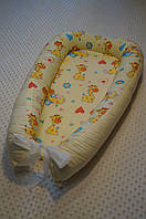 Гнездышко КОКОН Babynest для Новорожденных Жирафики (унисекс)