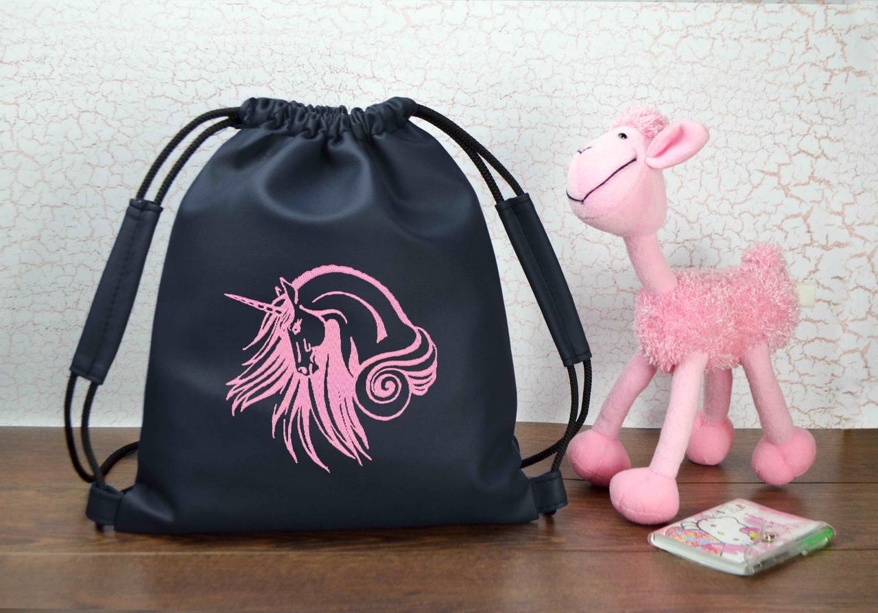 """Рюкзак - мешок для малышей 11 """"Единорог"""" - цвет на выбор"""