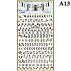 Наклейки для Ногтей PhotonailArt Водные Однотонные, Большая Пластина, Angevi  А13, фото 2