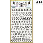 Наклейки для Ногтей PhotonailArt Водные Однотонные, Большая Пластина, Angevi  А14, фото 2