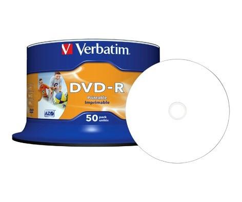 DVD + - R Verbatim Wide Inkjet Printable  ( 50 шт )