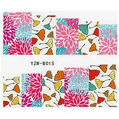KATTi Наклейки водные YZW B 015 цветные цветы