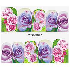 KATTi Наклейки водные YZW B 026 цветные цветы ноготок