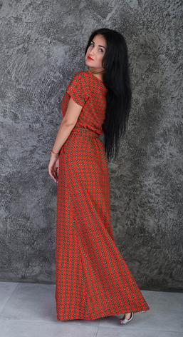 Летнее длинное платье размер 44-46, фото 2