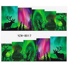 KATTi Наклейки водные YZW B 017 цветные абстракция лес олени
