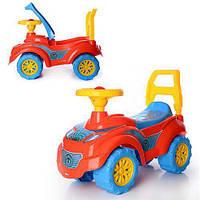 Детская каталка Автомобиль для прогулок Спайдер ТехноК 3077 с сигналом