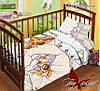 Детское постельное белье в кроватку для девочек и мальчиков Пес в пижаме