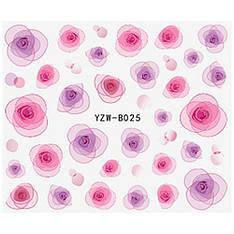 KATTi Наклейки водные YZW B 025 цветные абстракция цветок бутон