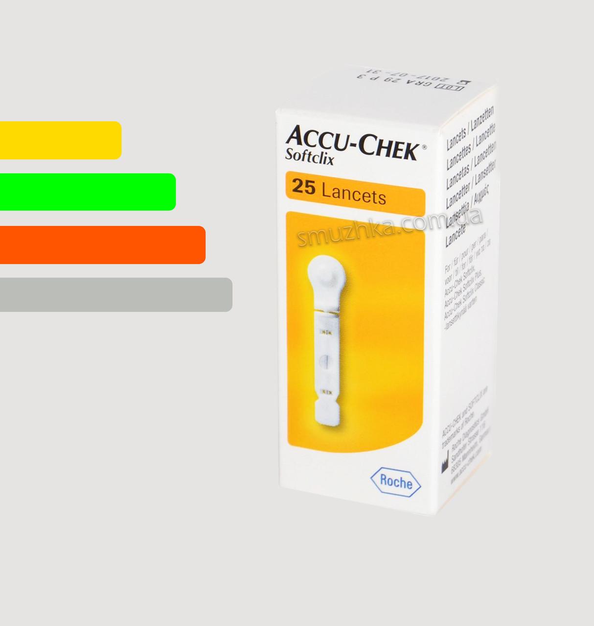 Ланцеты для автопрокалывателя Софткликс #25 - Accu Chek Softclix, Performa