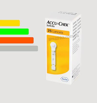 Ланцеты для автопрокалывателя Софткликс #25 - Accu Chek Softclix, Performa, фото 2