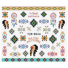KATTi Наклейки водные YZW B 046 цветные tribal culture индейцы
