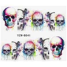 KATTi Наклейки водные YZW B 041 цветные череп принт