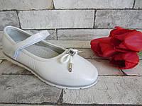 Туфли Jong Golf белые праздничные 34-36 размер