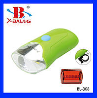 Фонарик велосипедные BL - 308 5W COB BIKE LIGHT , комплект со стопом (переднее - задние освещения)