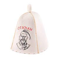 Шапка для сауны с вышивкой 'Отаман ', Saunapro