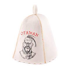 Шапка для сауни з вишивкою 'Отаман ', Saunapro