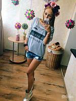 Летняя футболка женская с принтом арт 212/3-126