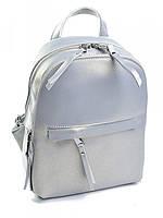 Стильный женский рюкзак из кожи A-1178 жемчужно-серый, фото 1