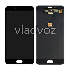 Дисплей модуль екран з сенсором для заміни на Meizu M3x LCD чорний