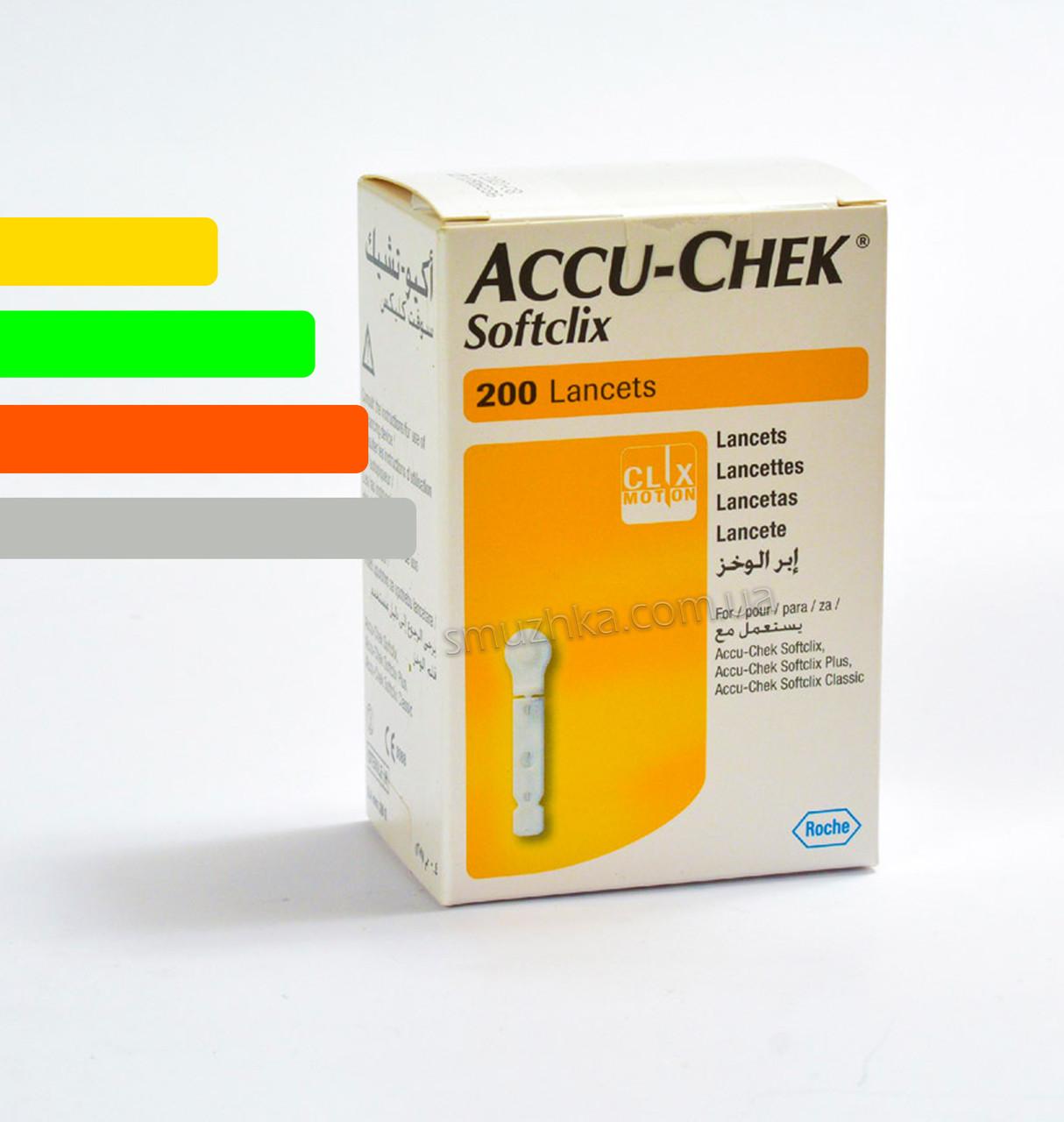 Ланцет Софткликс-Softclix 200шт. для глюкометров Акку Чек