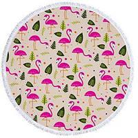 Пляжный Коврик Фламинго листья