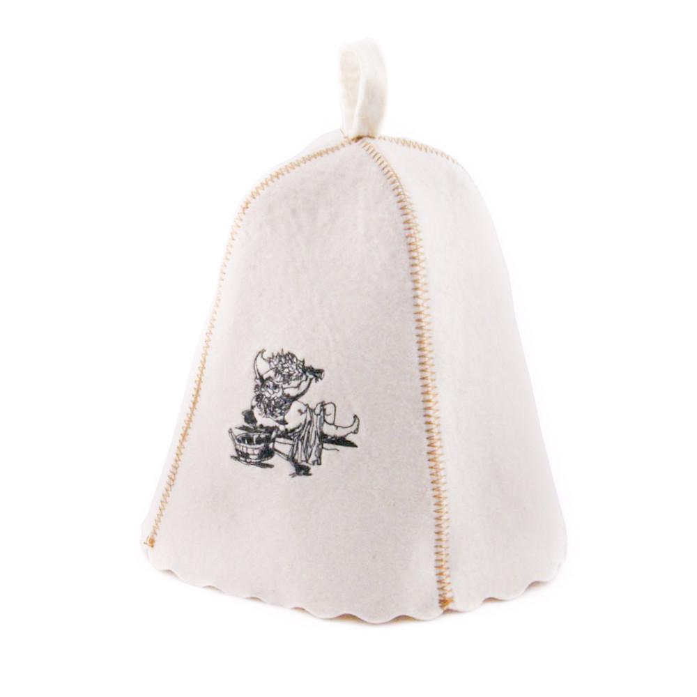 Шапка для сауны с вышивкой 'Банщик ', Saunapro